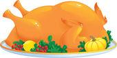 Roasted turkey — Stock Vector