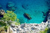 Azure sea at Capri island — Stock Photo