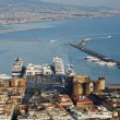 Stock Photo: Aerial view of Naples city port panorama