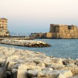 Castle dell Ovo in Naples city - Stockfoto