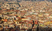 Aerial view of Naples city during the sunset — Stock Photo