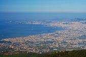 аэрофотоснимок неаполь город от вулкана везувий — Стоковое фото