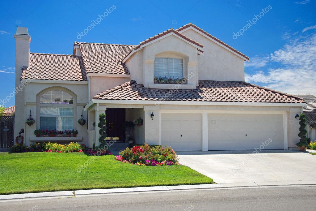New american dream home stock photo vacclav 4985899 for Dream house photo gallery