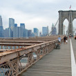 Brooklyn bridge in New York City panorama — 图库照片