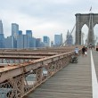 Royalty-Free Stock Photo: Brooklyn bridge in New York City panorama