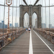 Brooklyn bridge in New York City - Stock Photo