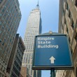 het empire state building in new york city — Stockfoto