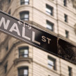 Wall street sign in New York city — Stock Photo #4995418