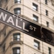 Wall street sign in New York city — Stock Photo