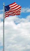 US american flag flapping in the wind in Washington DC — Stock Photo