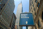 L'empire state building à new york city — Photo