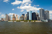 Lower Manhattan panorama in New York City — Stock Photo