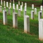 Gravestones on Arlington National Cemetery — Stock Photo