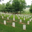 Gravestones on Arlington National Cemetery - Stock Photo