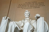 Abraham Lincoln statue in the Lincoln Memorial, Washington DC — Stock Photo