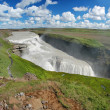 gullfoss fall on the iceland — Stock Photo