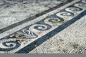 Mosaic floor in Pompei — Stock Photo