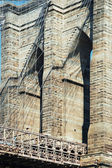 Brooklyn bridge i new york city detaljerad vy — Stockfoto