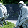 Korean war veterans memorial in Washington DC - Stock Photo