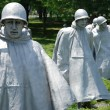 Stock Photo: Korean war veterans memorial in Washington DC