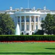 Stock Photo: The White House in Washington DC with beautiful blue sky