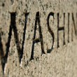 Washington sign on World War II memorial in Washington DC. — Stock Photo #5106424