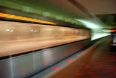 Offuscamento della metropolitana unità in movimento — Foto Stock