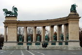 Praça dos heróis em budapeste — Foto Stock