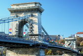 Chain Bridge in Budapest — Stock Photo