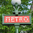 Paris metro entrance sign — Stock Photo #5272973