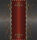 Rojo con oro vintage — Foto de Stock