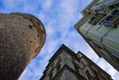 Galata Tower and the old building from another angle — Stock Photo