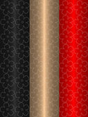 Black gold and red abstract background — Stock Photo