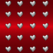 Stock Photo: Red heart background