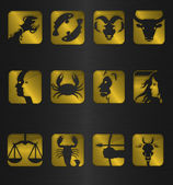 Zodiac icon symbols — Stock Photo