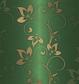Gold floral green — Stock Photo