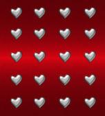 Fondo de corazón rojo — Foto de Stock