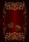 Rojo con oro vintage abstracto — Foto de Stock