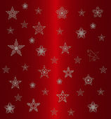 Star pattern on the red background — Stock Photo