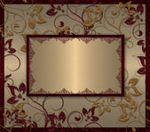 Vintage floral golden frame — Photo
