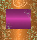 Vintage lilac with orange floral background — Stock Photo