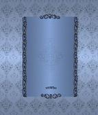 Blue floral vintage — Stock Photo