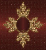 Red with gold vintage — Stock Photo