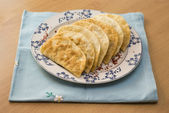 The Tatar meal pies fried with forcemeat — Stock Photo