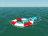 Salvación en la superficie del mar — Foto de Stock