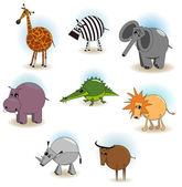 Animated animals — Stock Vector