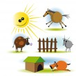 Vector de stock : Animals 2