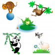 Different animals — Stock Vector