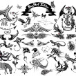 grote set tattoo — Stockvector