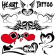 HEART TATTOO - Stok Vektr